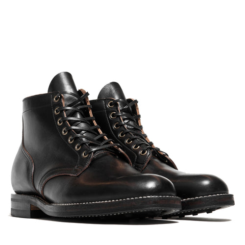 Viberg Black Chromexcel Service Boot at shoplostfound, front