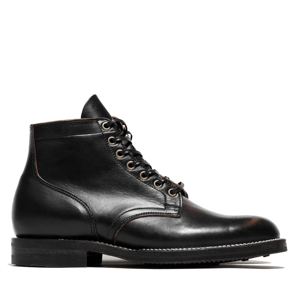 Viberg Black Chromexcel Service Boot at shoplostfound, side