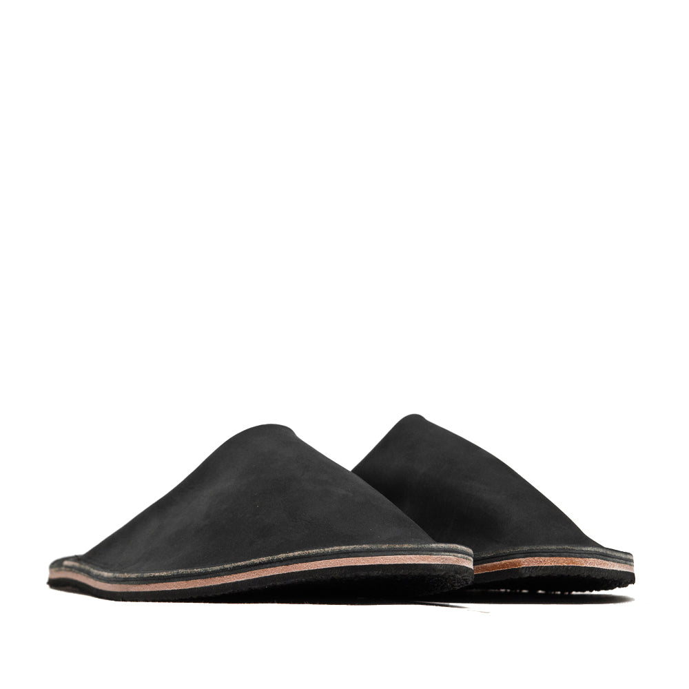 Viberg Black Matte Calf Slides at shoplostfound, 45