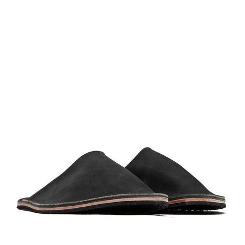 Viberg Black Matte Calf Slides at shoplostfound, side