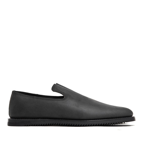 Viberg Black Matte Calf Slippers Mini Ripple at shoplostfound, 45
