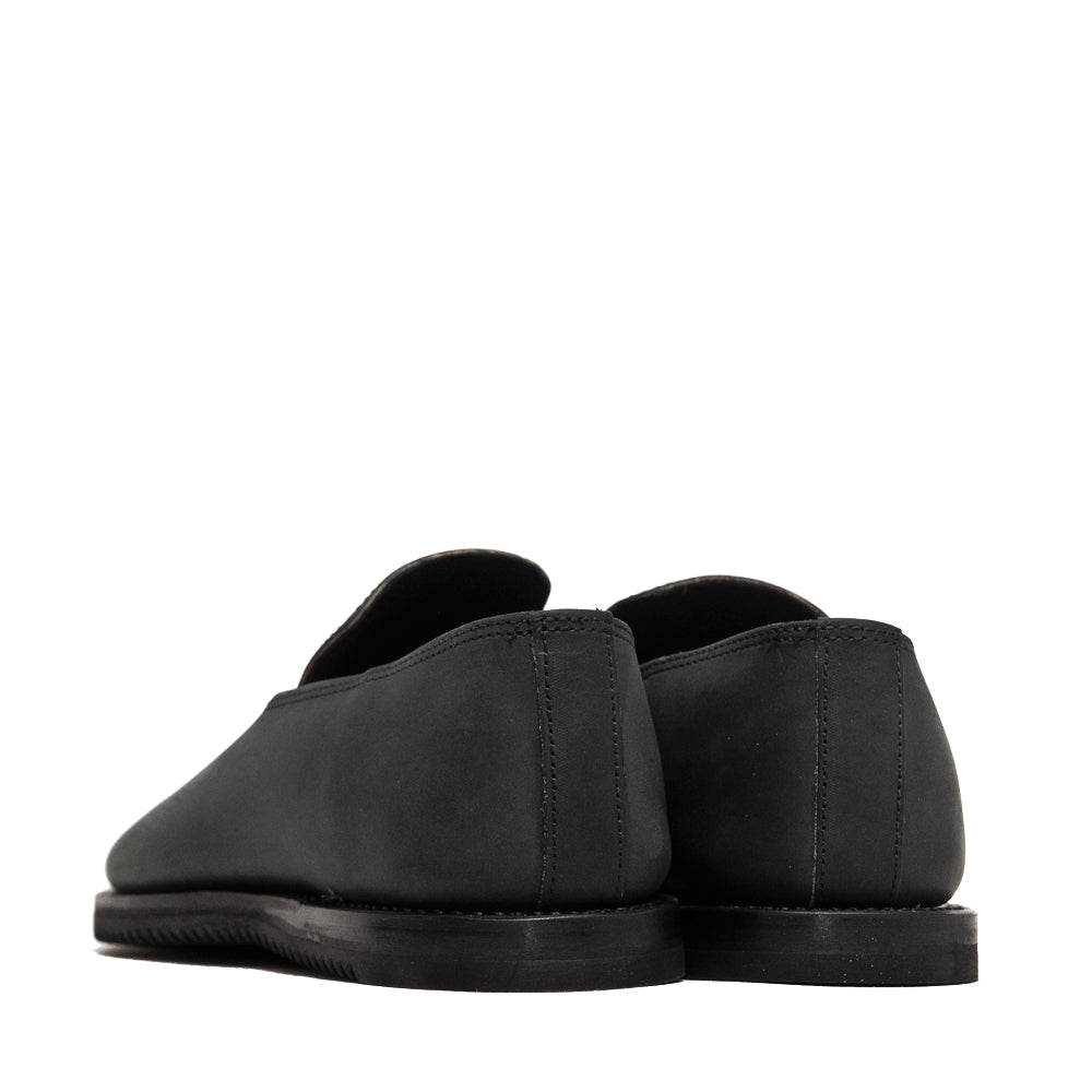 Viberg Black Matte Calf Slippers Mini Ripple at shoplostfound, back
