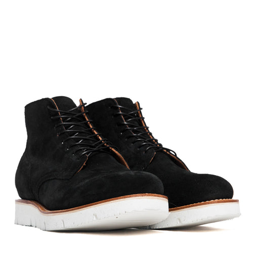 Viberg Black Calf Suede Service Boot at shoplostfound, 45