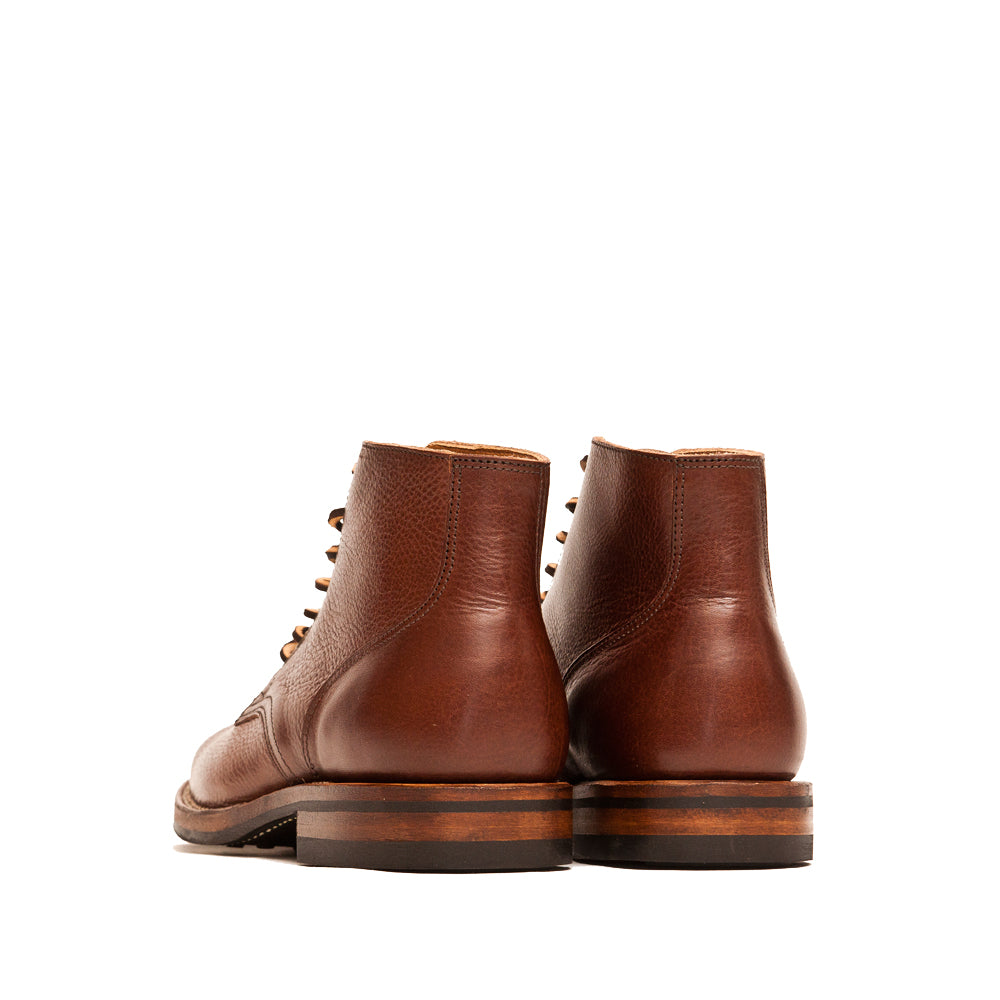 Viberg Brown Tumbled Horsehide Service Boot at shoplostfound, back