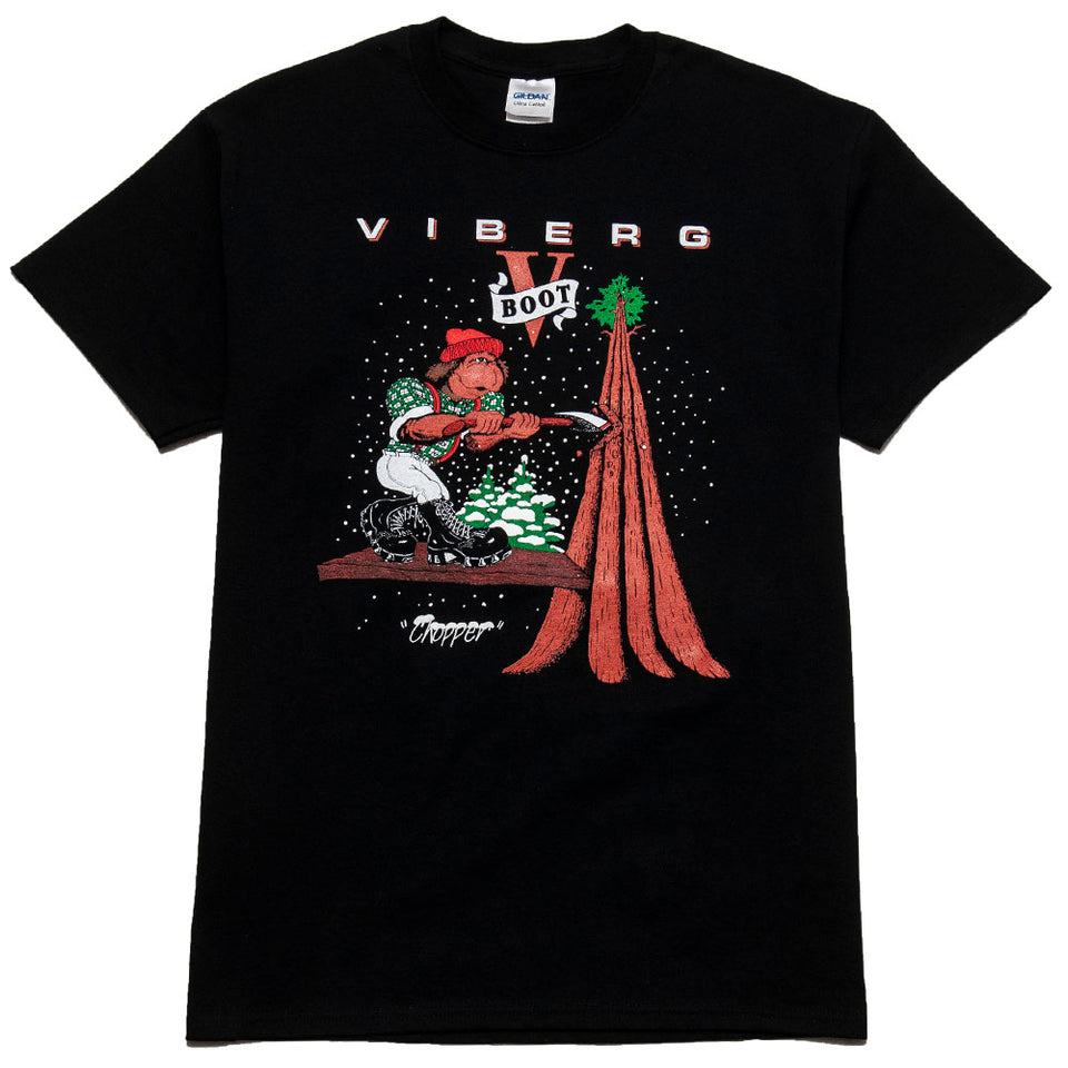 Viberg Chopper T-Shirt Black at shoplostfound, front