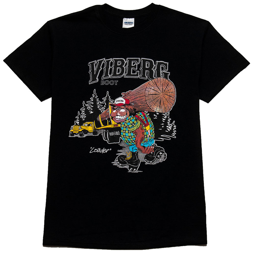 Viberg Loader T-Shirt Black at shoplostfound, front