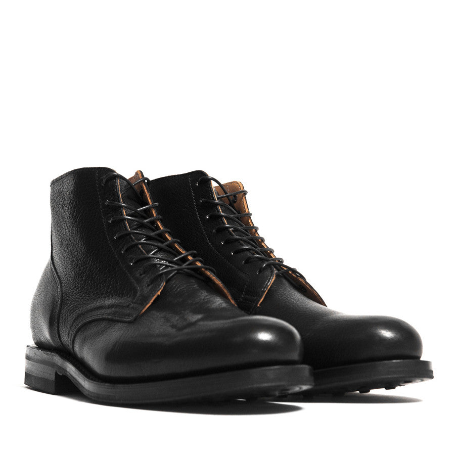 Viberg Black Goat Service Boot at shoplostfound in Toronto, 45