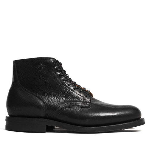 Viberg Black Goat Service Boot at shoplostfound in Toronto, side