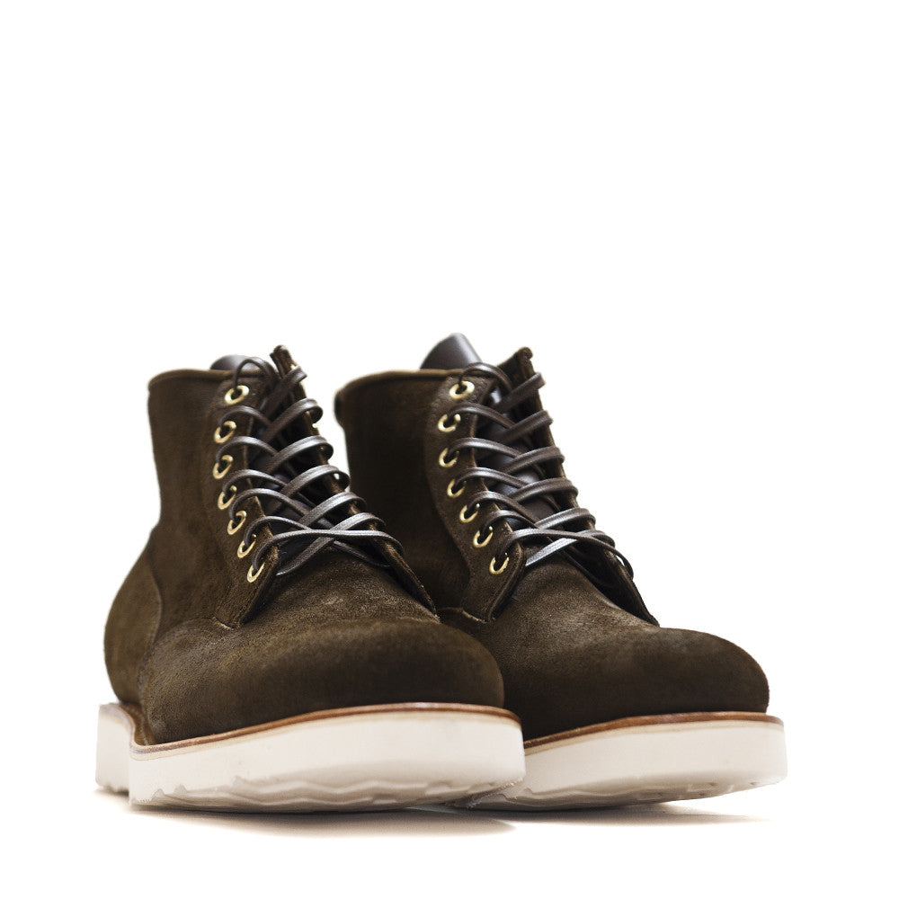 Viberg Mushroom Chamois Roughout Scout Boot at shoplostfound in Toronto, product shot