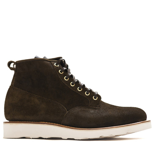 Viberg Mushroom Chamois Roughout Scout Boot at shoplostfound in Toronto, profile