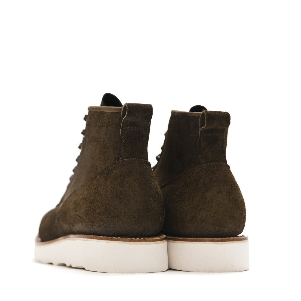 Viberg Mushroom Chamois Roughout Scout Boot at shoplostfound in Toronto, back