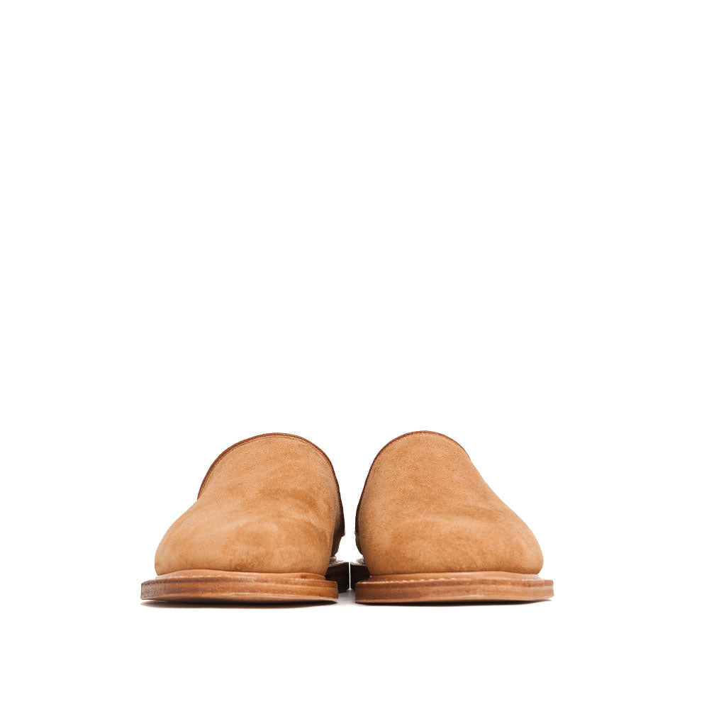 Viberg Mule Slipper Anise Calf Suede at shoplostfound, front