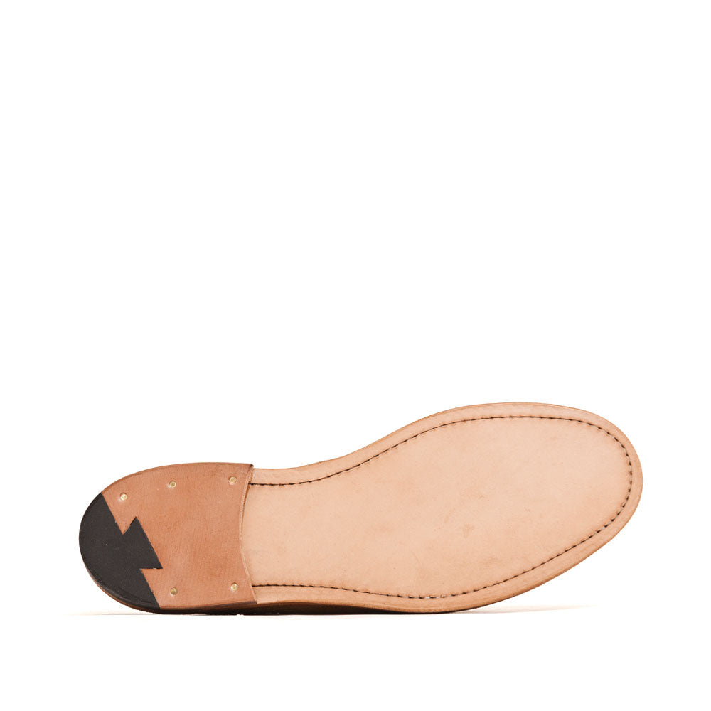 Viberg Mule Slipper Anise Calf Suede at shoplostfound, sole