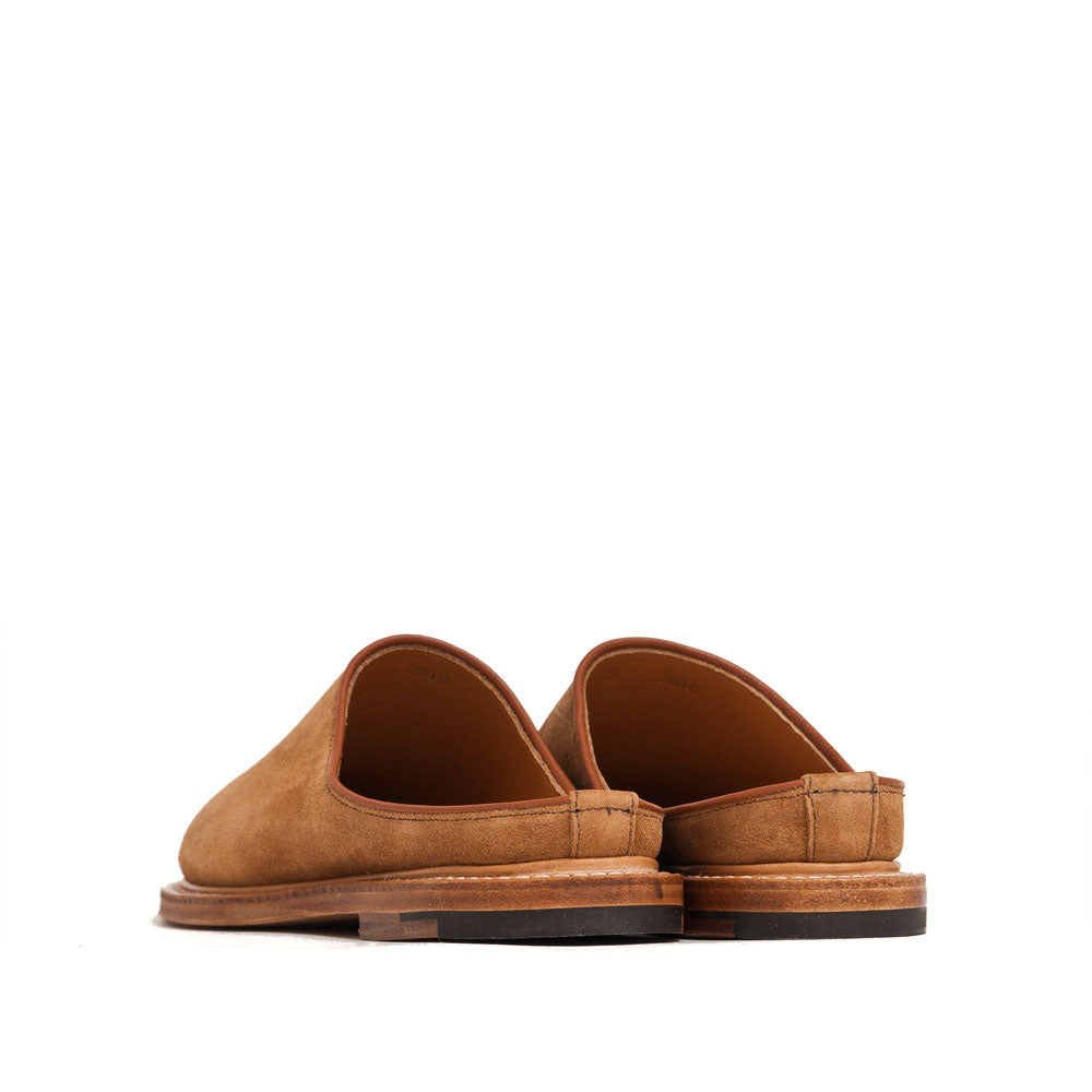 Viberg Mule Slipper Anise Calf Suede at shoplostfound, back