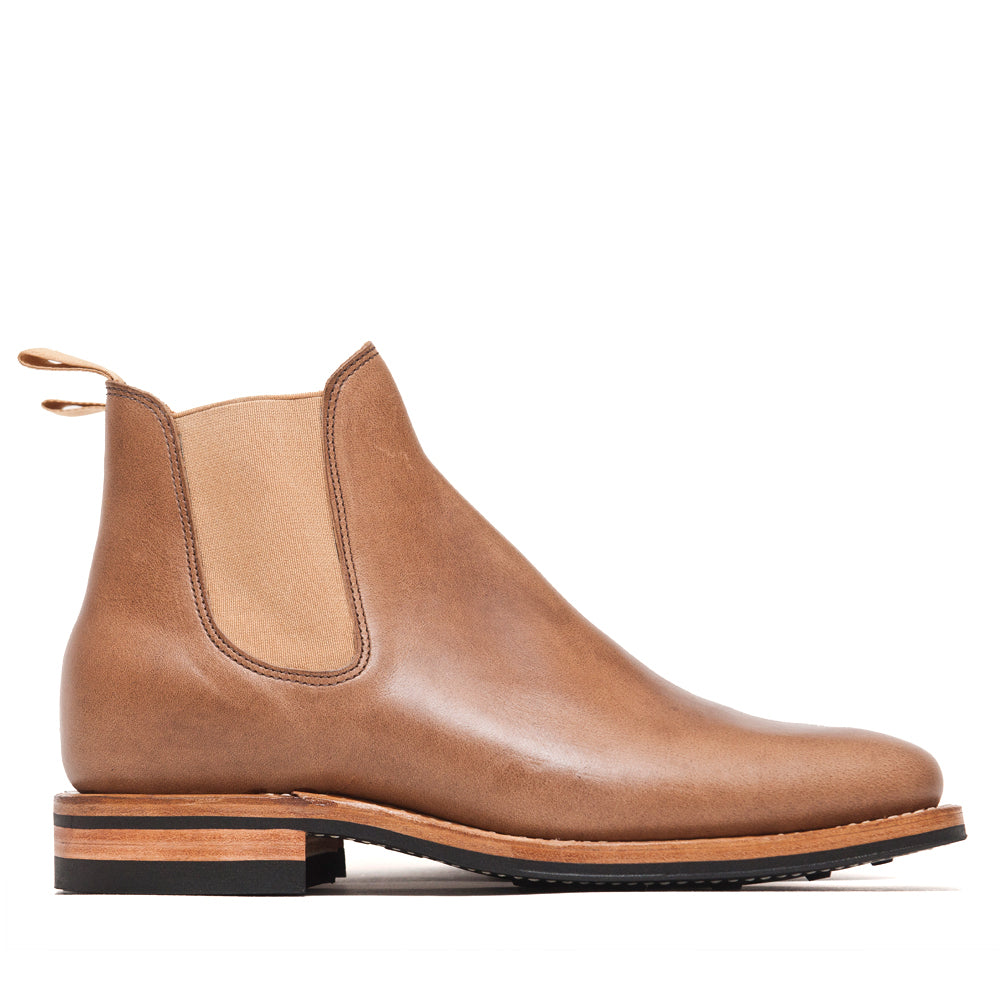 Viberg Natural Chromexcel Chelsea Boot at shoplostfound, side