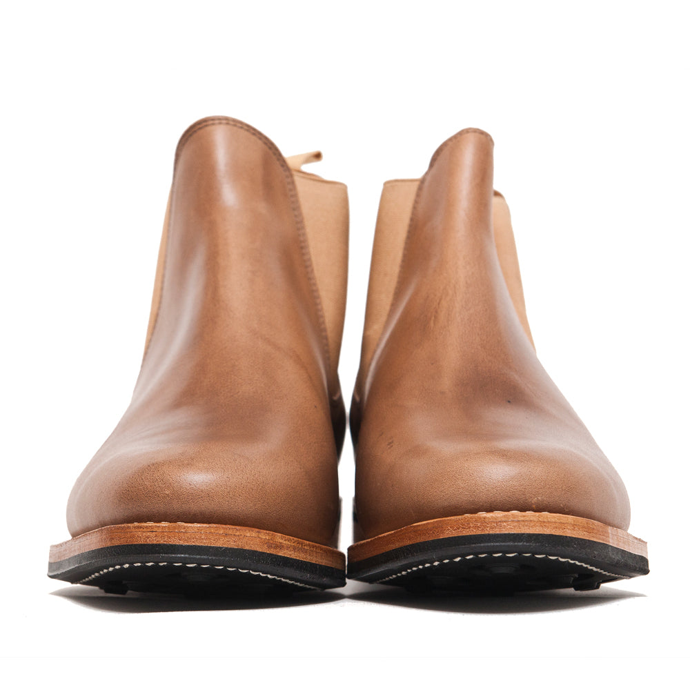 Viberg Natural Chromexcel Chelsea Boot at shoplostfound, front