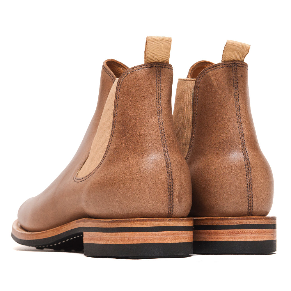 Viberg Natural Chromexcel Chelsea Boot at shoplostfound, back