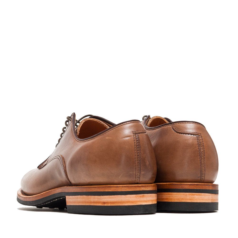 Viberg Natural Chromexcel Derby Shoe at shoplostfound, back
