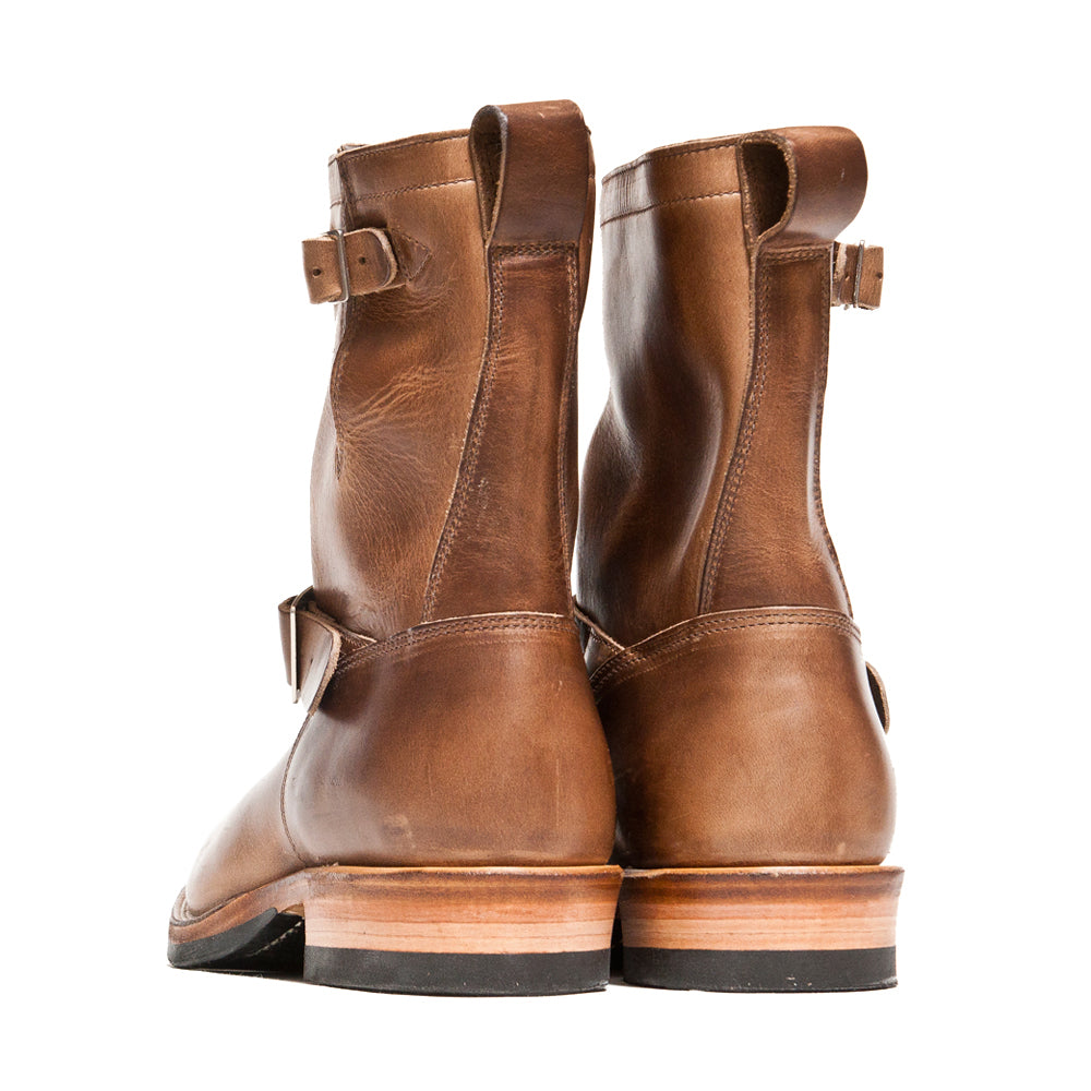 Viberg Natural Chromexcel Engineer Boot at shoplostfound, back