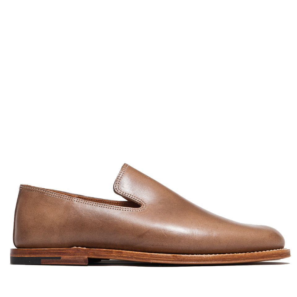 Viberg Natural Chromexcel Slippers at shoplostfound, side