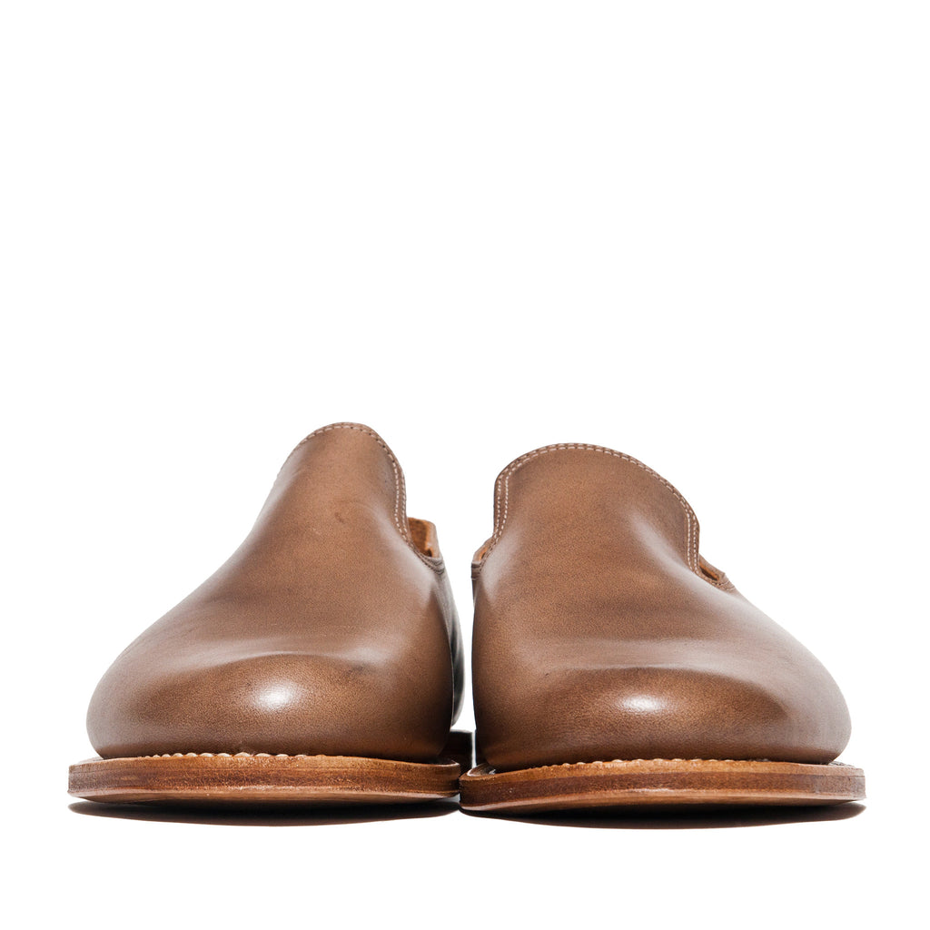 Viberg Natural Chromexcel Slippers at shoplostfound, front