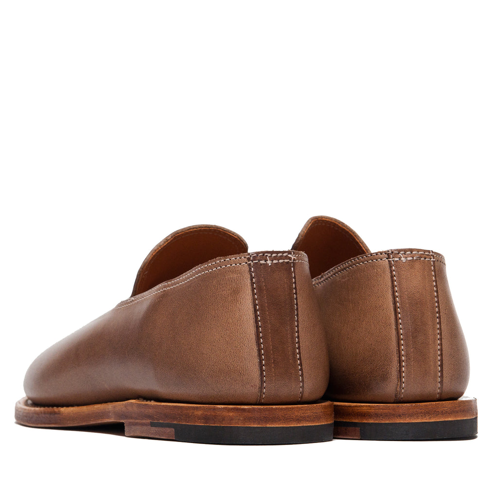 Viberg Natural Chromexcel Slippers at shoplostfound, back
