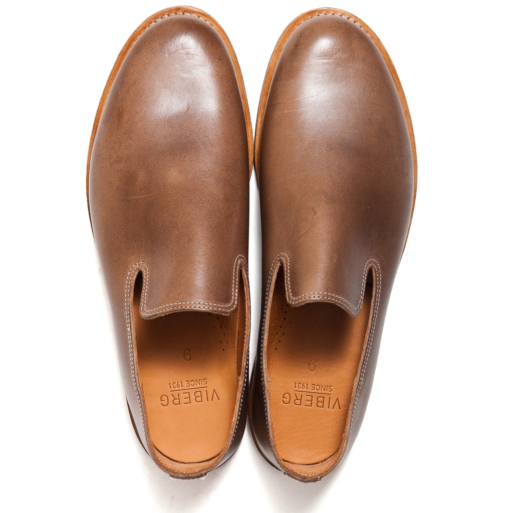 Viberg Natural Chromexcel Slippers at shoplostfound, top