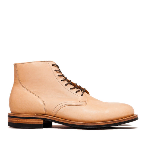 Viberg Natural Kangaroo Service Boot at shoplostfound, side