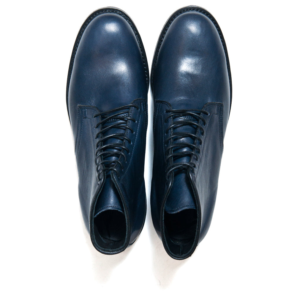 Viberg Navy Horsehide Derby Boot at shoplostfound, top