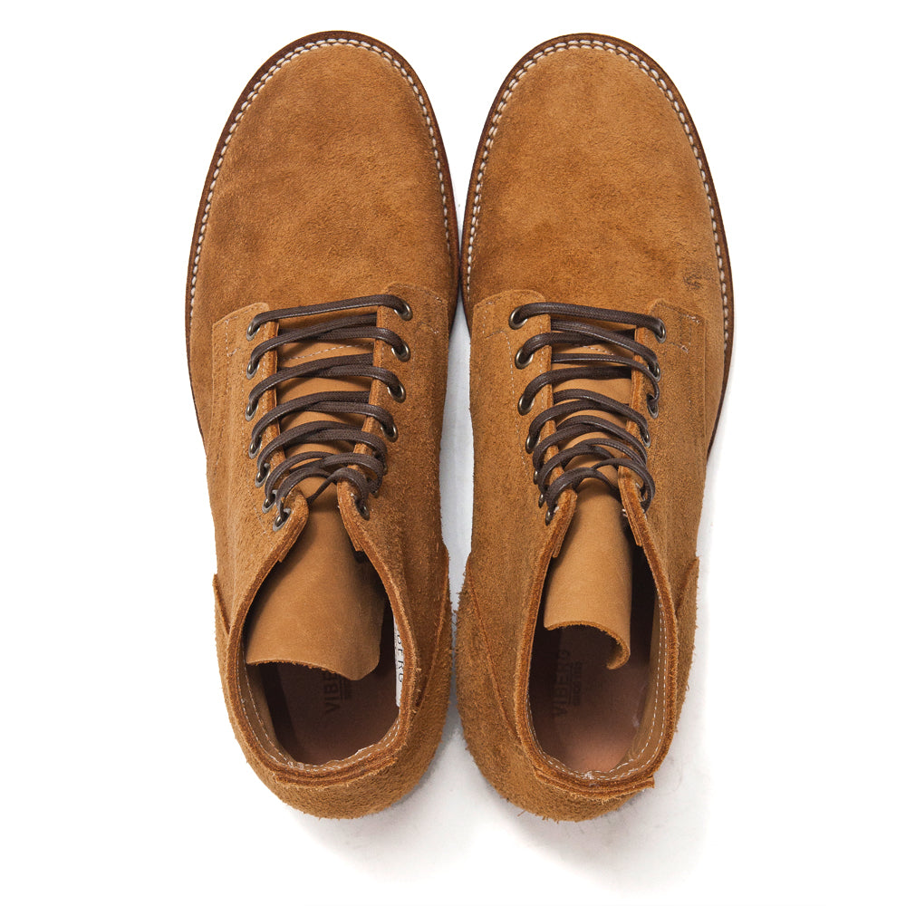 Viberg Sand Nubuck Service Boot at shoplostfound, top