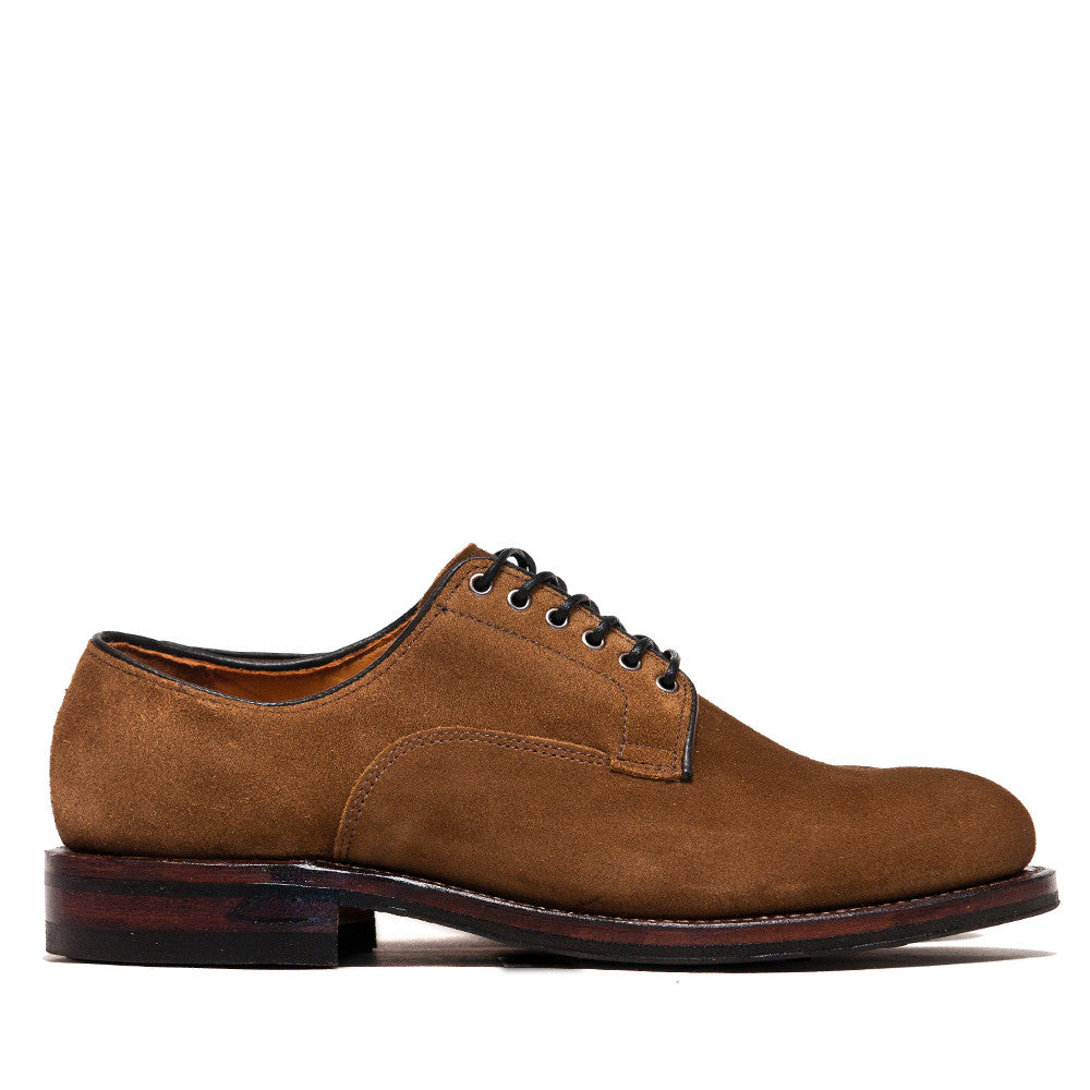 Viberg Snuff Suede Derby Shoe at shoplostfound, side
