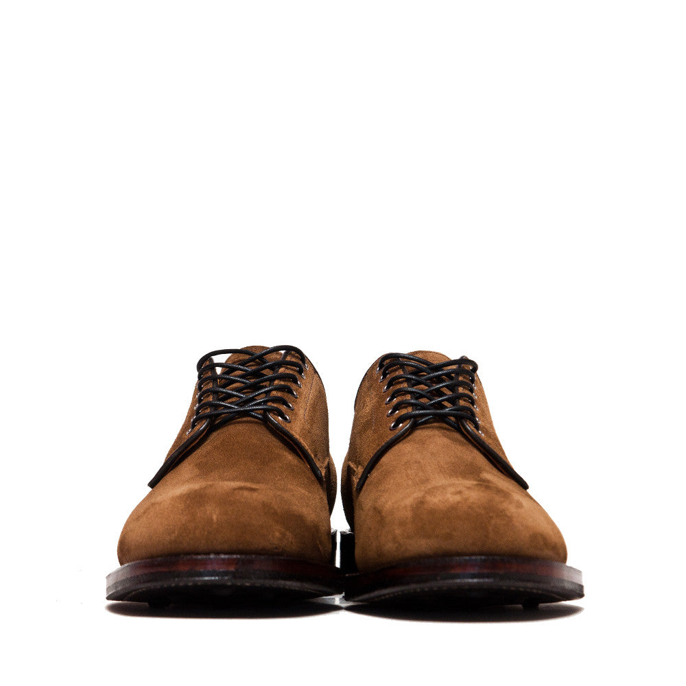 Viberg Snuff Suede Derby Shoe at shoplostfound, front