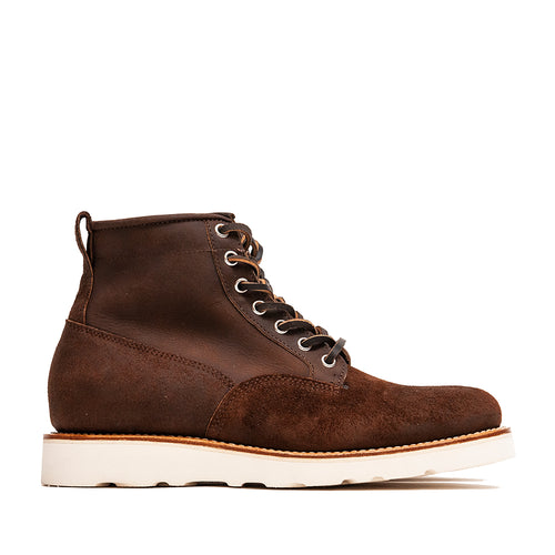 Viberg Tobacco Reverse Chamois Roughout Scout Boot at shoplostfound, side