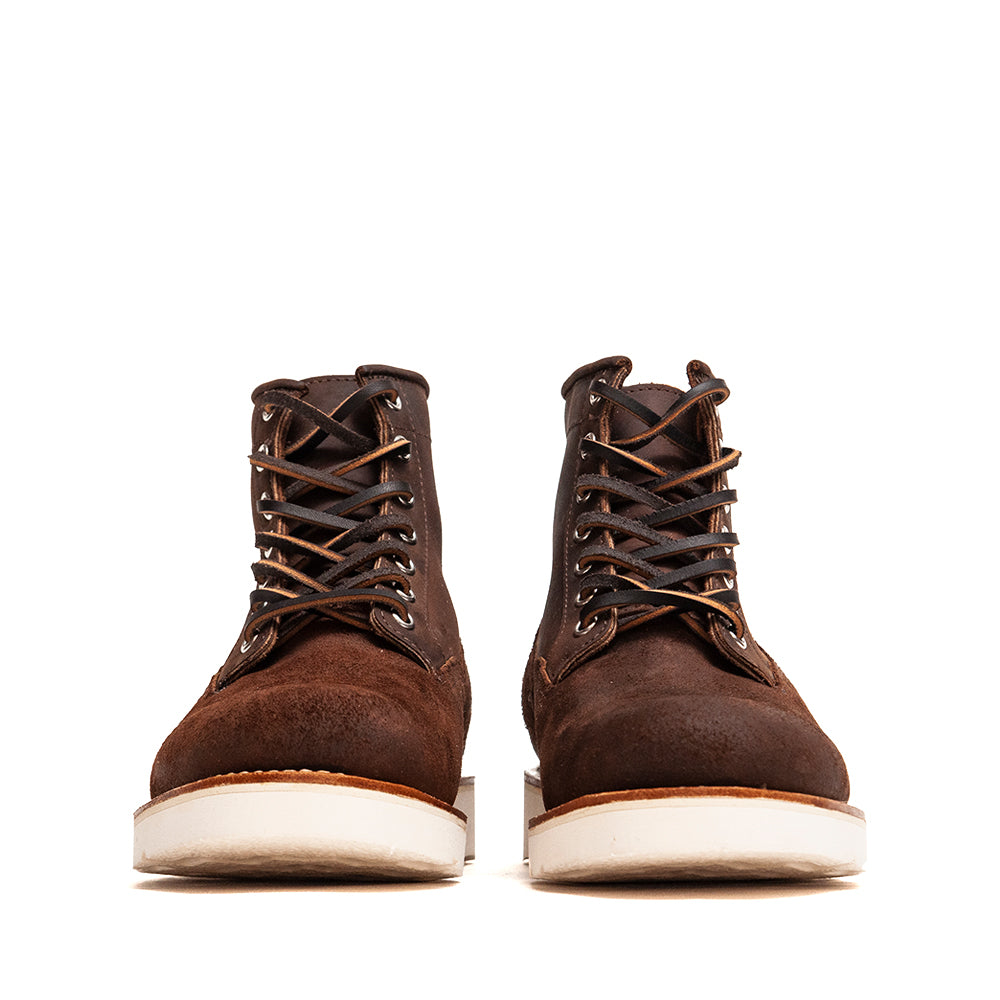 Viberg Tobacco Reverse Chamois Roughout Scout Boot at shoplostfound, front