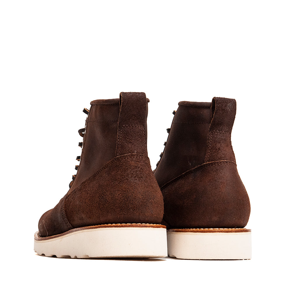 Viberg Tobacco Reverse Chamois Roughout Scout Boot at shoplostfound, back