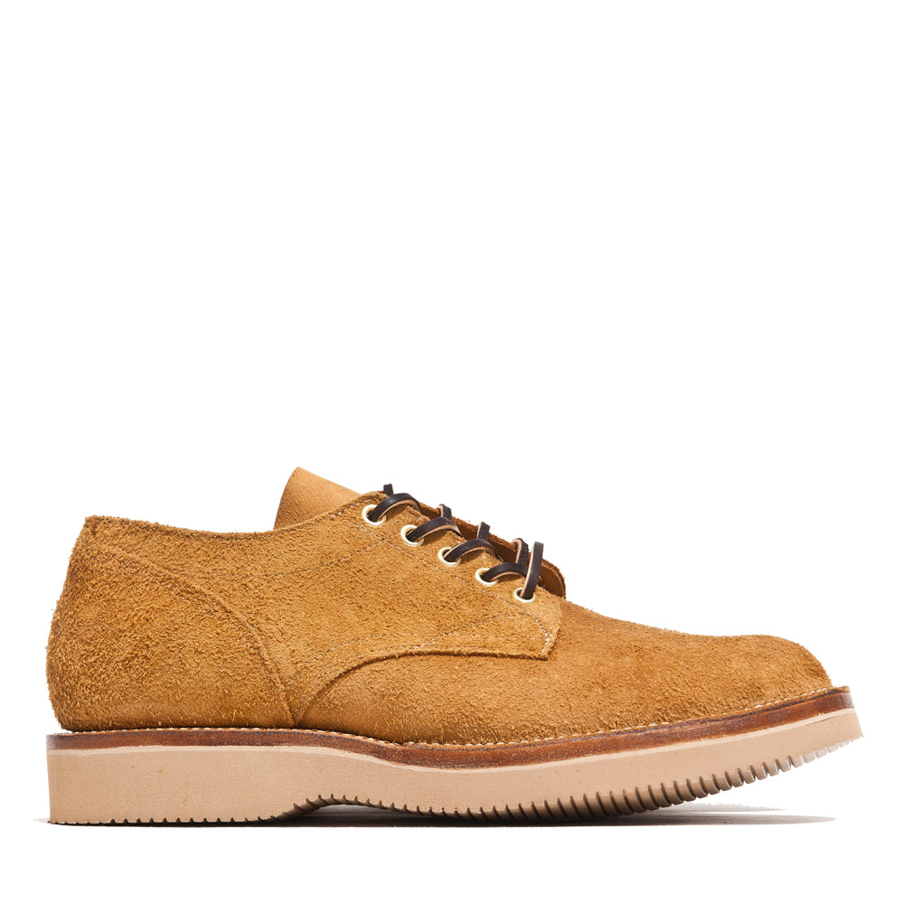 Viberg Wheat Oxford Roughout at shoplostfound, side