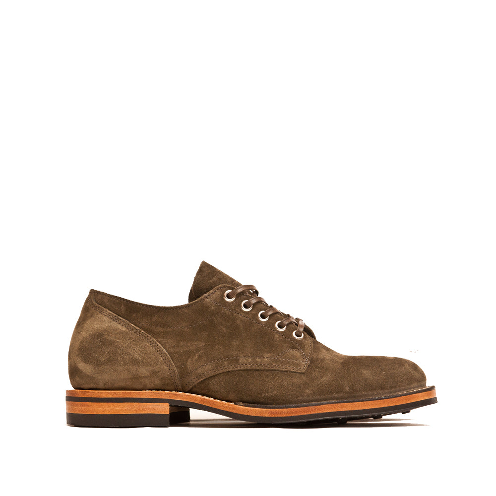 Viberg Zabri Clove Calf Suede 145 Oxford Shoe at shoplostfound, side