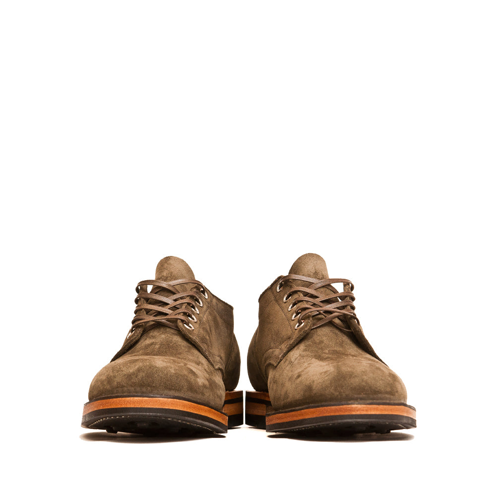 Viberg Zabri Clove Calf Suede 145 Oxford Shoe at shoplostfound, front