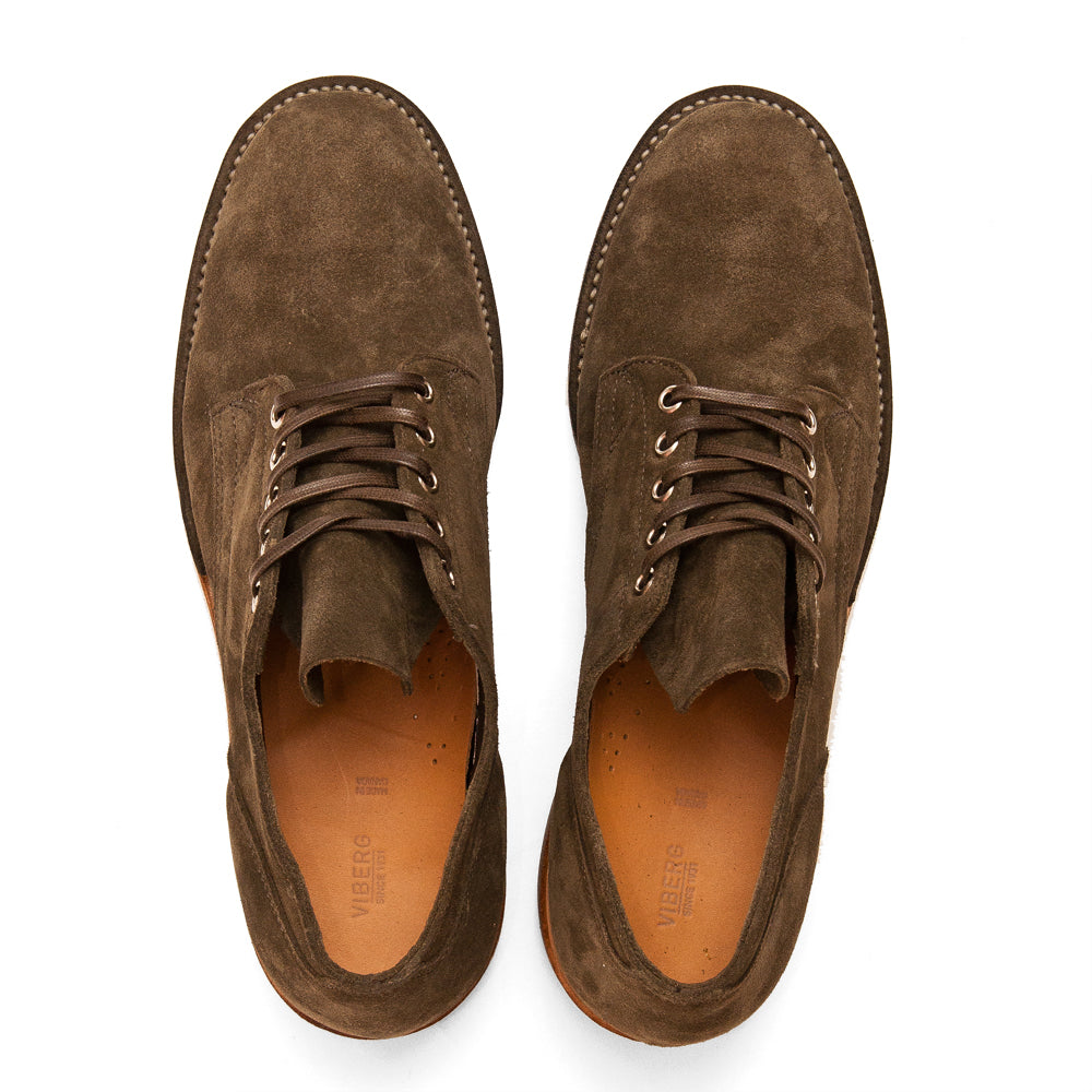 Viberg Zabri Clove Calf Suede 145 Oxford Shoe at shoplostfound, top