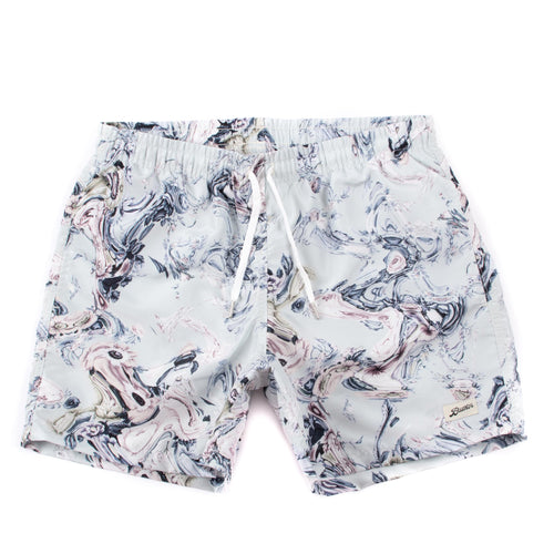 Bather Pistachio Bouquet Marble Swim Trunk