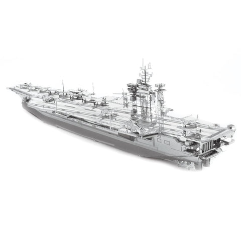 Fascinations Metal Earth Iconx USS Theodore Roosevelt CVN-71 3D DIY Steel Model Kit