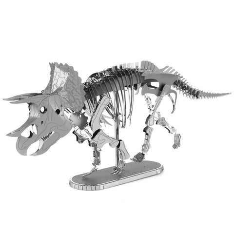 Fascinations Metal Earth Dinosaurs Triceratops Skeleton 3D DIY Steel Model Kit