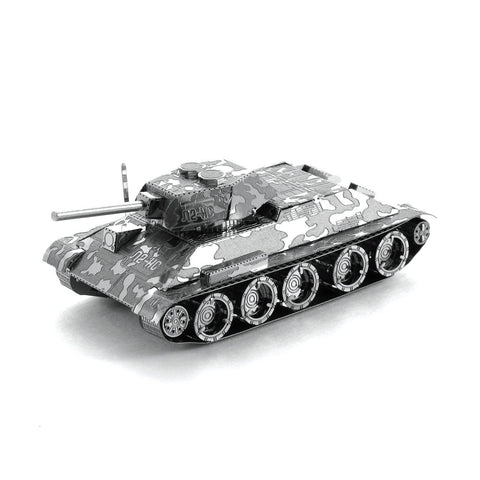 Fascinations Metal Earth T-34 Tank 3D DIY Steel Model Kit