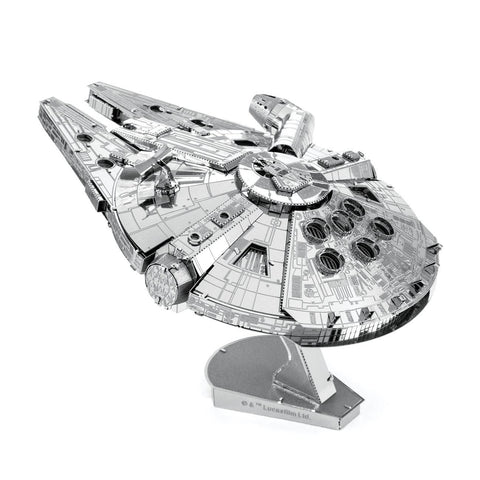 Fascinations Metal Earth Iconx Star Wars Millenium Falcon 3D DIY Steel Model Kit
