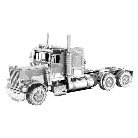 Fascinations Metal Earth Freightliner FLC Long Nose Truck 3D DIY Steel Model Kit