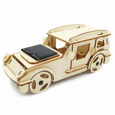 Wincent Solar Energy Series Solar Multi-Purpose Car 3D Wood Puzzle Model