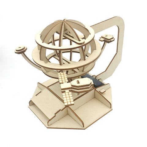 Wincent Solar Energy Series Solar Earth 3D Wood Puzzle Model