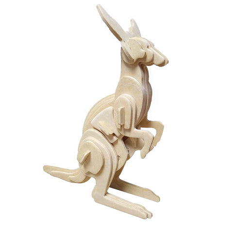 Wincent Wild Animal Series Kangaroo 3D Wood Puzzle Model