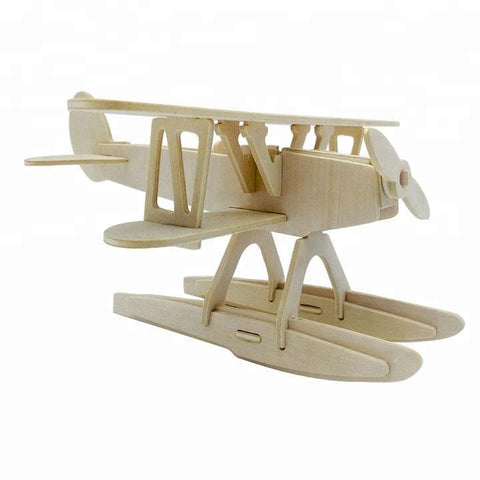 Wincent Transportation Series Airplane B 3D Wood Puzzle Model