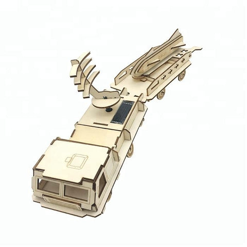 Wincent Solar Energy Series Solar Missile Long Truck 3D Wood Puzzle Model